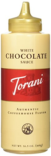 Torani White Chocolate Sauce,16.5 oz Squeeze Bottle (New Packaging)(2Pack) ()
