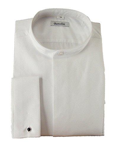 Pique Tuxedo Shirts (B1001 Mens Pique front Band Collar Formal Shirt)