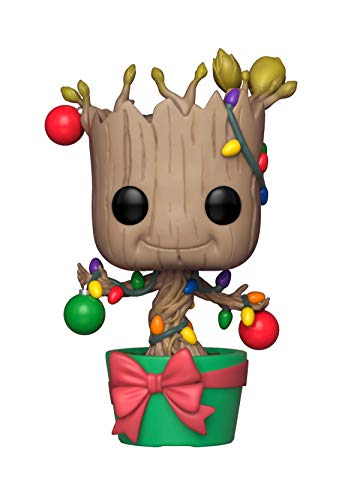 Funko Pop Marvel: Holiday, Guardians of The Galaxy - Groot Collectible Figure, Multicolor]()