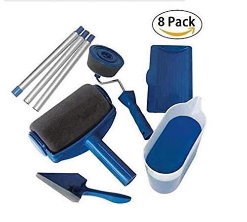 8PCS Rouleau de Peinture goutte Sans Couture Rouleau Kit Marbeine Paint Roller avec Reservoir Rouleau Peinture Anti