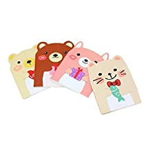 Mini Animal Style Note Pads Notebooks with Lined Pages (4 Pack)