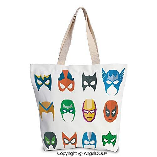 SCOXIXI Superhero Casual Canvas Tote Bag Reusable Shopping