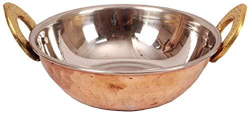 350ml Bowl - Handmade Steel Copper Kadai Karahi Wok Bowl 350 ML