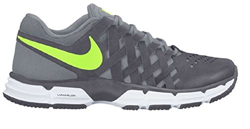 Nike Herren Lunar Fingertrap Tr Ankle-High Leder Cross Trainer Schuh Dunkelgrau / Volt-Stealth