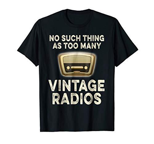 Antique Radio Shirt Vintage Radio Collector TShirt Gift