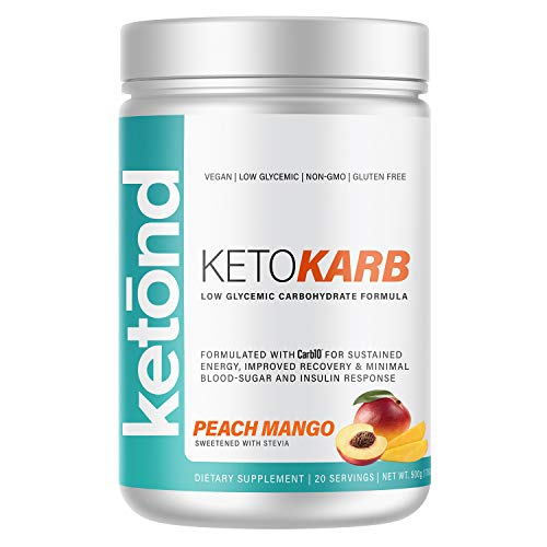 Ketond KetoKarb — Low Glycemic Carbohydrate Energy, Keto Approved Carbohydrate — Stay in Ketosis — Peach Mango (20…