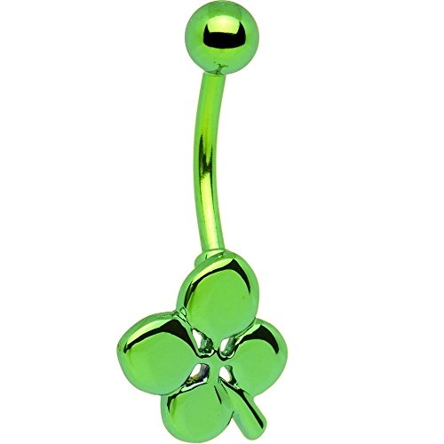 Green Electro Titanium Four Leaf Clover Belly ()