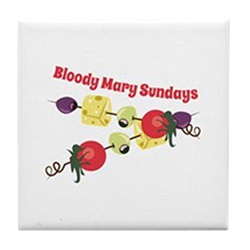 (CafePress - Bloody Mary Sundays - Tile Coaster, Drink Coaster, Small Trivet)