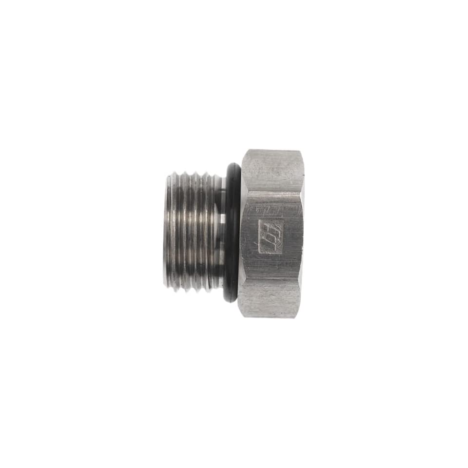 Brennan 6408 06 O SS, Stainless Steel Tube Fitting, Hex Plug , 3/8 Tube OD, 9/16 18 O ring Boss Thread