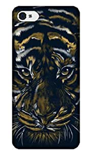 Sangu Tiger Texture Hard Back Shell Case / Cover for Iphone 4 and 4s