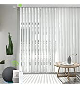 Yoolax Motorized Sheer Vertical Shades Works with Alexa, Light Filtering Double Layer Smart Verti...