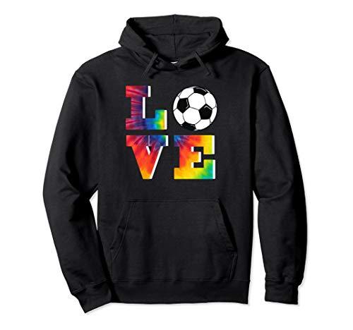 (Soccer Tie Dye Look Big LOVE Hoodie For Girls &)