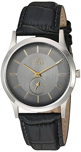 titan-mens-classique-quartz-stainless-steel-and-leather-automatic-watch-colorblack-model-1674sl01