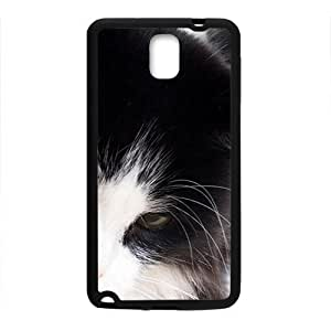 Black White Cat Black Phone Case for Samsung Galaxy Note3