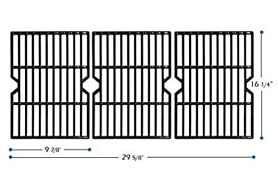 """VICOOL 16-1/4"""" Porcelain Coated Cast Iron Grill Grates Replacement for Uniflame GBC1059WB GBC1059WE-C, Backyard Grill BY12-084-029-98 and Other Gas Grill Models, HyG159C"""
