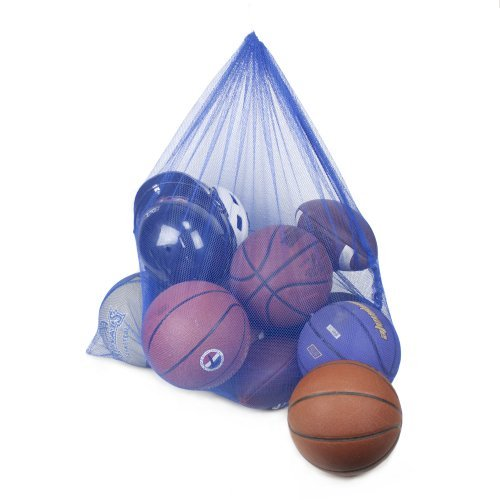 Crown Sporting Goods Coaches Equipment Bag in Heavy Duty Mesh, Blue by Crown Sporting Goods