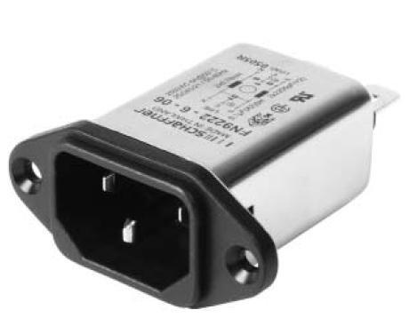 10 pieces AC Power Entry Modules 3A MED WIRE CMPACT HI-PRFM MOD