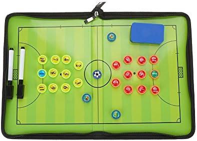 Alomejor Soccer Tactic Coaching Board Magnetische Fußball Strategie Board Set mit Magneten Stift Eraser für Fußballtraining und Matc
