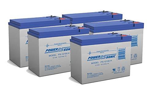 (Powersonic 12V 10.5AH SLA Battery Tusa SAV-7 Underwater Scooter - 5 Pack)