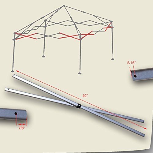 Weekender Canopy - Quik Shade Weekender Elite 10' x 10' Canopy SIDE TRUSS Bar Replacement Parts