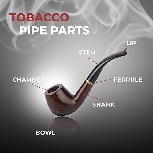 Tobacco Pipe   Pipes for Smoking Tobacco   Stylish, Cool and Distinguished Starter Pipe Kit   The Perfect Gift for a Classy Gentleman by Smokey Hollow Co by Smokey Hollow (Image #3)