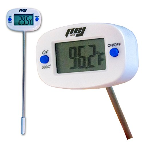 Best Digital Cooking, Candy & Meat Thermometer, Swiveling Head, PEJ Home Quick,Accurate and Reliable Food Thermometer - Great Gift - Cook Your Food to Perfection - No Risk,!