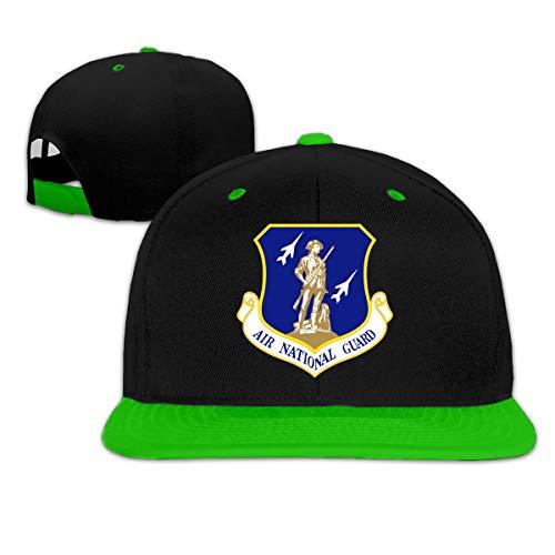 United States Air Force National Guard Men Women Hip Hop Hat Trucker Flat Hats Adjustable Snapback Hats Green