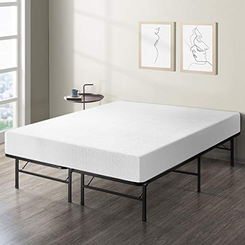 Best Price Mattress 10-Inch Memory Foam Mattress and Bed Frame Set, Full (Best Sheets For 10 Inch Mattress)