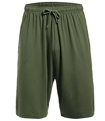 Latuza Men's Pajama Bottom Shorts S ArmyGreen