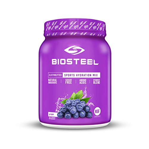 BioSteel High Performance Sports Drink Powder, Naturally Sweetened with Stevia, Grape, 700 Gram