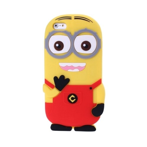 3D Despicable Me II Minions Style Silicone Case for iPhone 6 (Red)