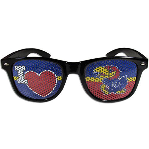 Siskiyou NCAA Kansas Jayhawks I Heart Game Day Shades, - Kansas Black Jayhawks Sunglasses