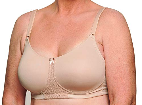 (Nearly Me - #540 Molded Cup Pocket Bra, Nude (Size: 38D))