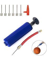 ANNADA Ball Pomp Set met 7 naaldpennen en Set 1 Stks Valve Adapter 1 Stks Luchtslang voor Voetbal, Rugby Ball, Volleybal, Basketbal, Handbal en andere ballen