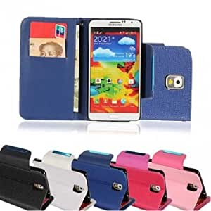 Leather Magnet Flip Cover Wallet Case for Samsung Galaxy Note3 N9000 --- Color:Rose Red