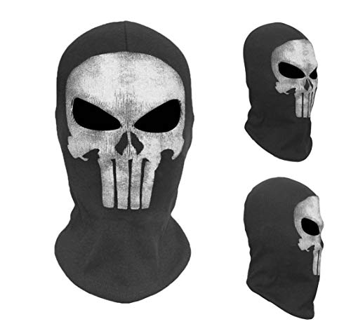 Full Face Punisher Mask Cosplay Costume Balaclava Combat Paintball War Game Halloween Tactical Airsoft Ghost Skull Masks -