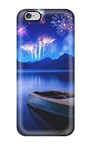 AnnaSanders Scratch-free Phone Case For Iphone 6 Plus- Retail Packaging - New Year 2010 Russian Celebration Fireworks Night WANGJING JINDA