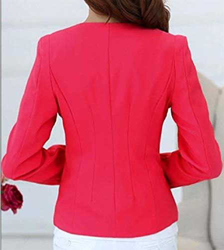 Ragazza Moda Tasche Suit Business Anteriori Autunno Giacca Qualità Colore Outerwear Tailleur Manica Da Alta Rosarot Lunga Di Leisure Button Giubotto Puro Donna 7SwxqEvFq