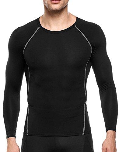 戸惑う治世みなさんCoofandy(クーファンディ)コンプレッションインナー メンズ 長袖 ラウンドネック スポーツシャツ コンプレッションウェア 体型矯正 抗菌 防臭 速乾 吸汗 加圧 高伸縮 アンダーウェア