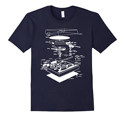 Men's Turn table shirt - dj shirt - turn table schematic ...