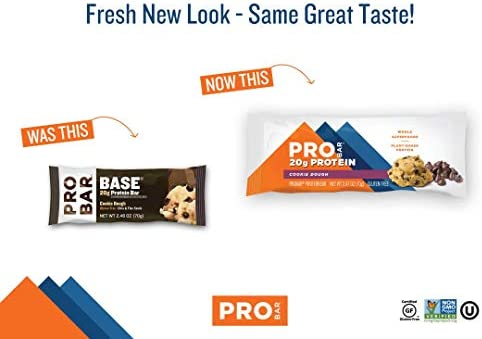 PROBAR - Base Protein Bar, Cookie Dough, Non-GMO, Gluten-Free, Healthy, Plant-Based Whole Food Ingredients, Natural Energy (12 Count) 3