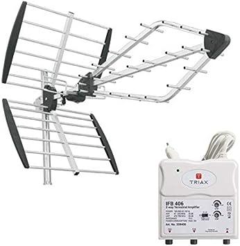 Triax Pack Viper antena TNT rastrillo TV premontada + ...
