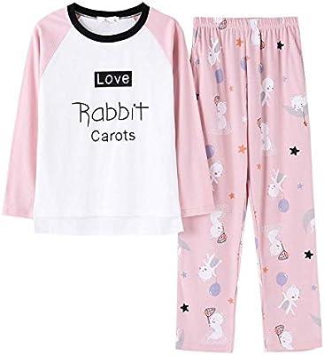 HTL Ropa, Cómoda Y Holgada Springamp; Otoño Algodón Camisa de Manga Larga Conjunto de Pijamas de Mujer Dibujos Animados Pareja Pijama Mujer Ropa de Mujer Ropa de Dormir,Icono de Foto,Xxl: Amazon.es: Bricolaje