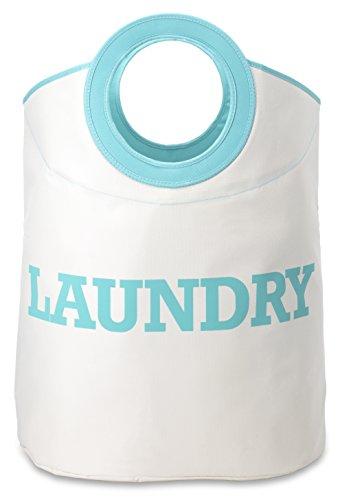 Whitmor Laundry Hamper White Turquoise product image