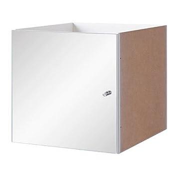 _ Ikea KALLAX Einsatz mit Spiegel; in Weiß; (33x33cm): Amazon.de ...