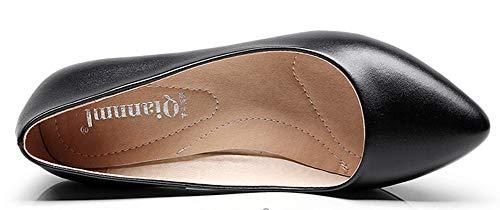 Escarpins Easemax Noir Basse Bloc EU Chaussure Femme 36 Mignon Pointue Talon xPwnrP0q4