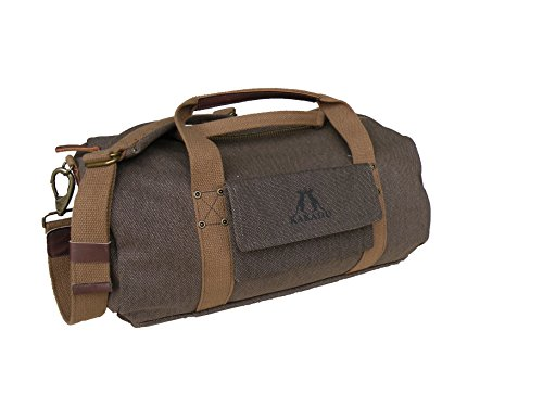 Kakadu Traders Australia Burro Duffle Bag, Ghost Gum Brown, One Size