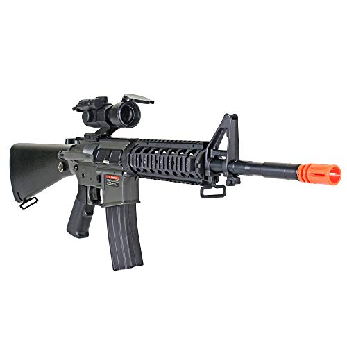 MetalTac CYMA CM013 Electric Airsoft Gun RAS with Polymer Body, Metal Gearbox Version 2, Full Auto AEG, Powerful Spring 370 Fps with .20g BBS