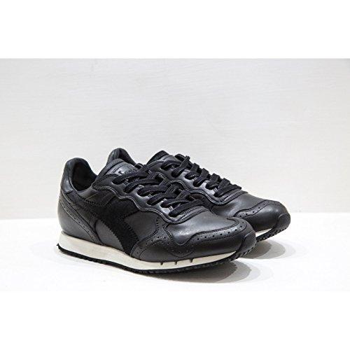 Italy Diadora In Colore Nero Scarpe Trident Brogue Nere Heritage Sneakers Sportive 44 L Made Uomo Black Di Pelle qAqa1rCF