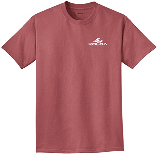 Koloa 2 Side Wave Logo Pigment-Dyed T-Shirt-Red.Rock/w-L